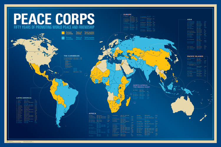 Peace Corps Map Peace Corps Map | Bedroom 2018